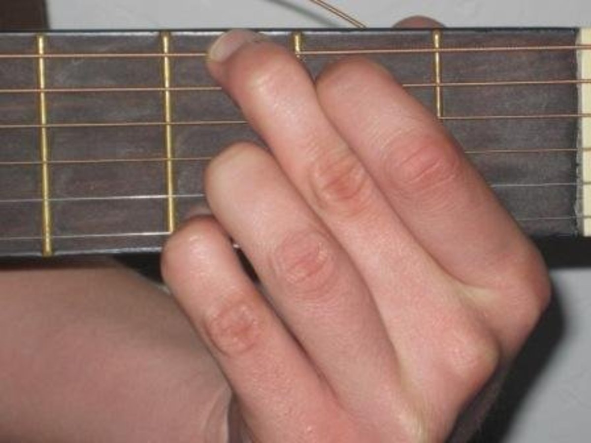 Me making a G Chord on the guitar