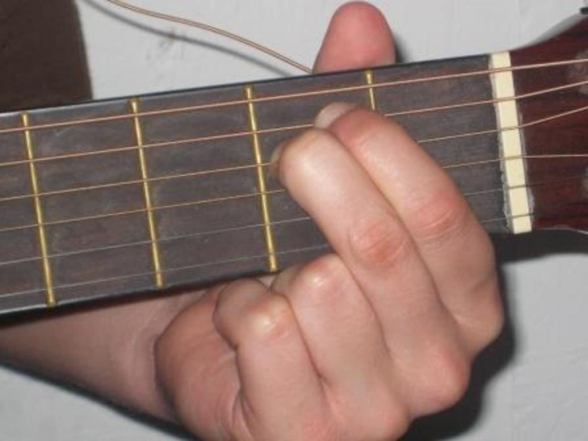 E minor guitar chord.