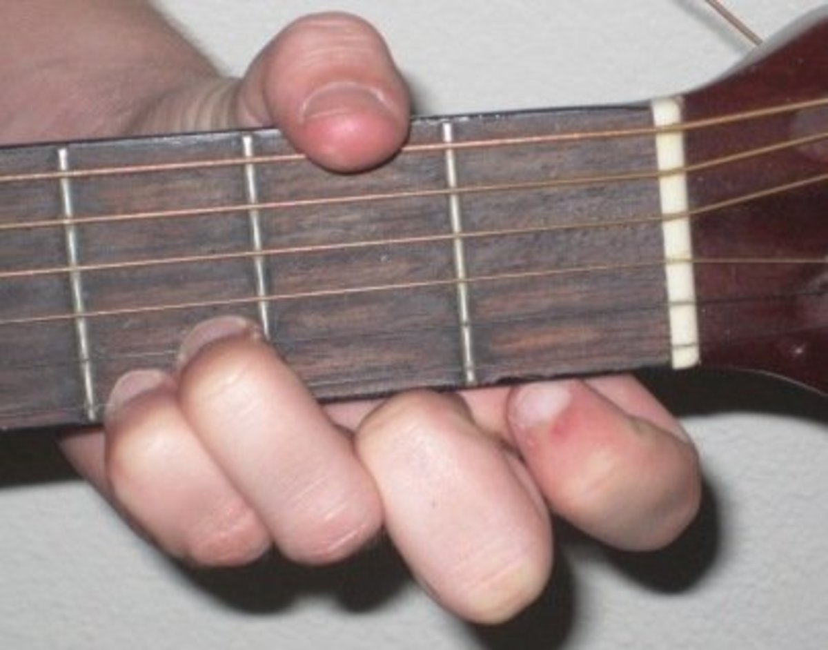 Simple G chord fingering.