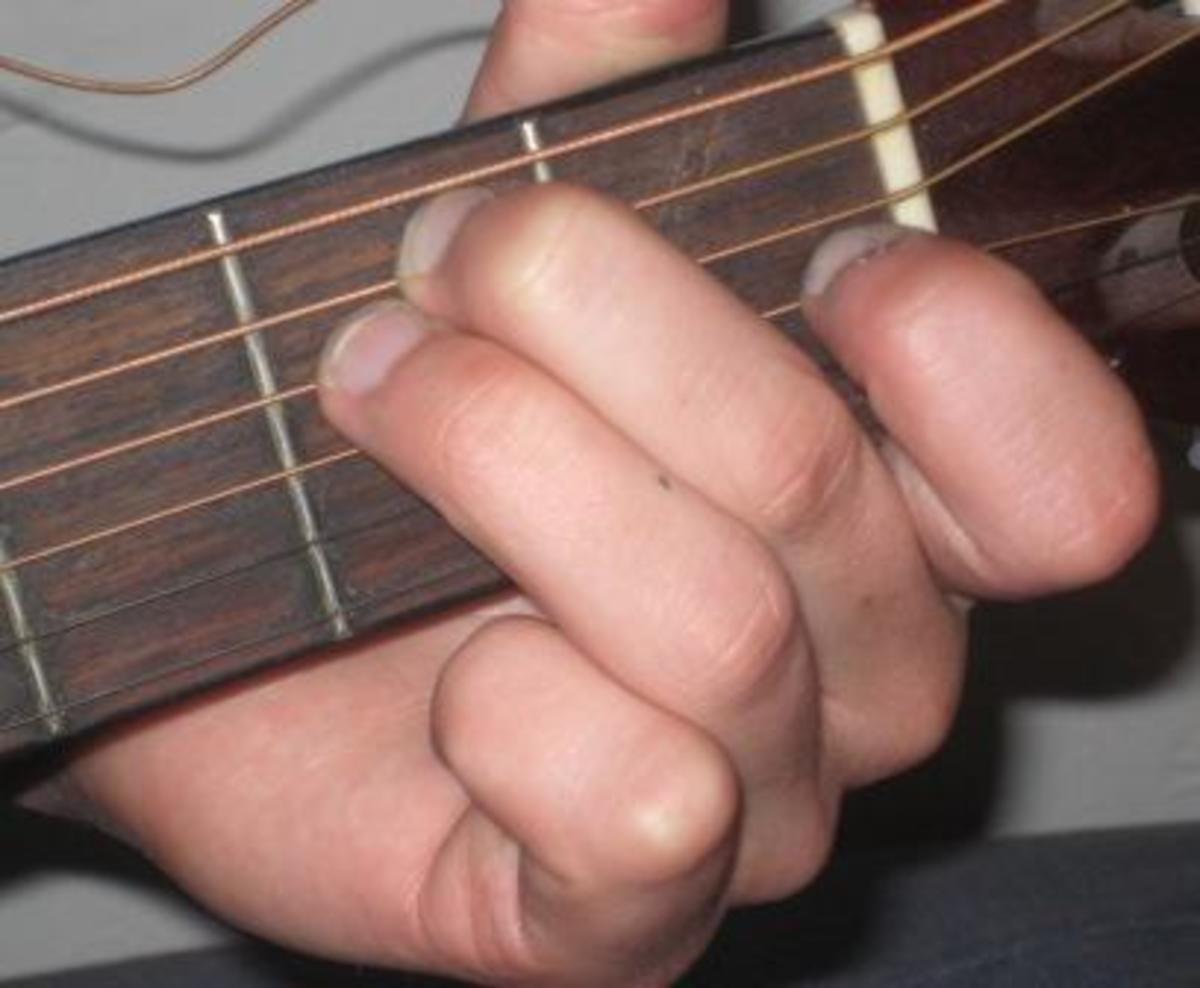 E chord fingering.