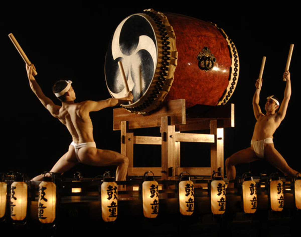 "Japanese Wa-taiko performed by Kodo/Photo by Joe's pub/Source:  ""The Weekender"" New York Times (March 16, 2007)"