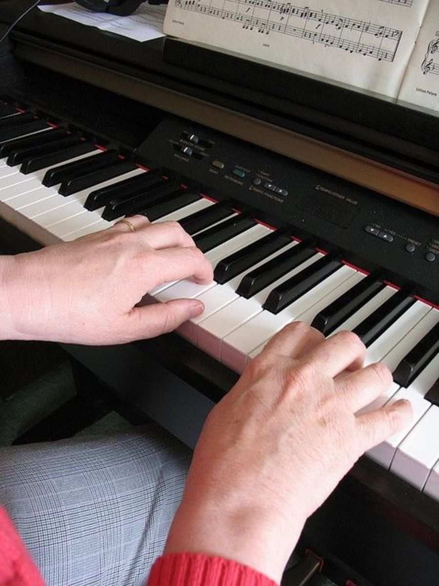 Do not play with straight fingers on the piano, keep them curved