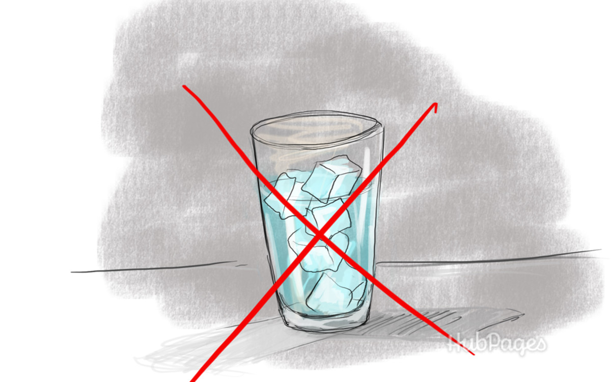 Avoid drinking ice water