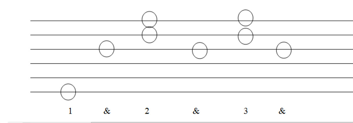 3 beat fingerstyle guitar pattern