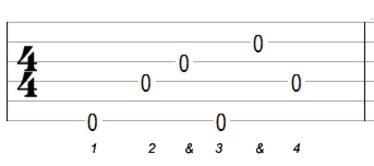 Alternating bass fingerstyle pattern (Travis)