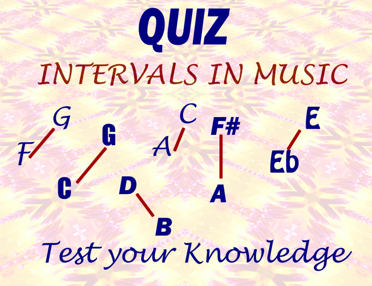 Music Theory Quiz and tutorial - Intervals