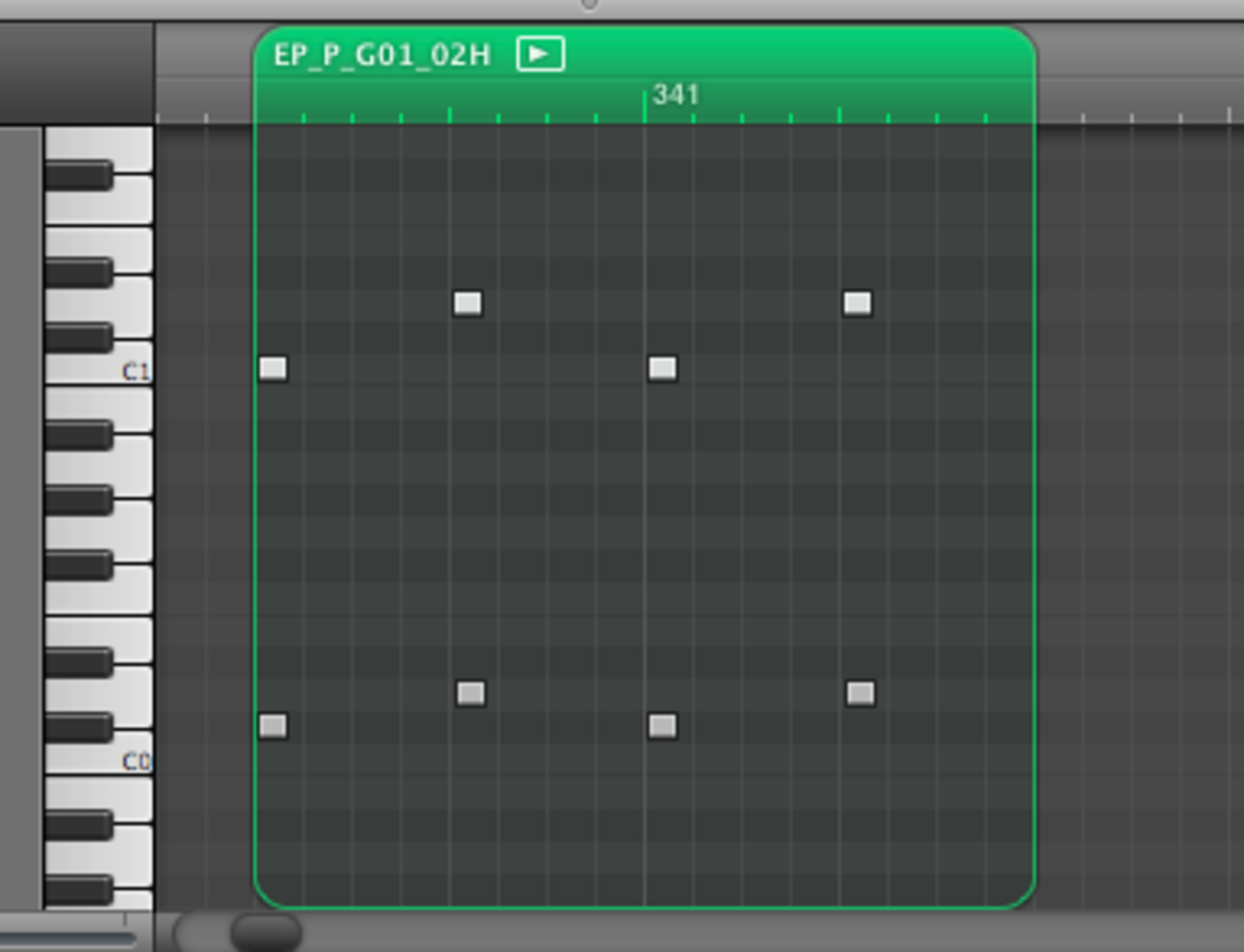 Drum-notes can be edited within the DAW