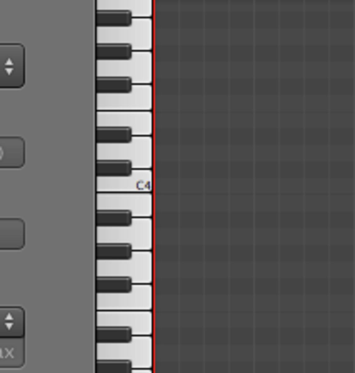A Standard MIDI Piano-roll