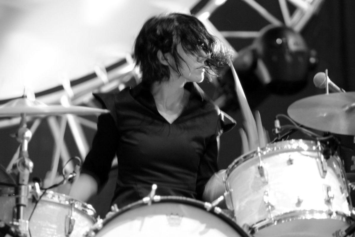 Carla Azar of Autolux at the LA Weekly Detour Music Festival