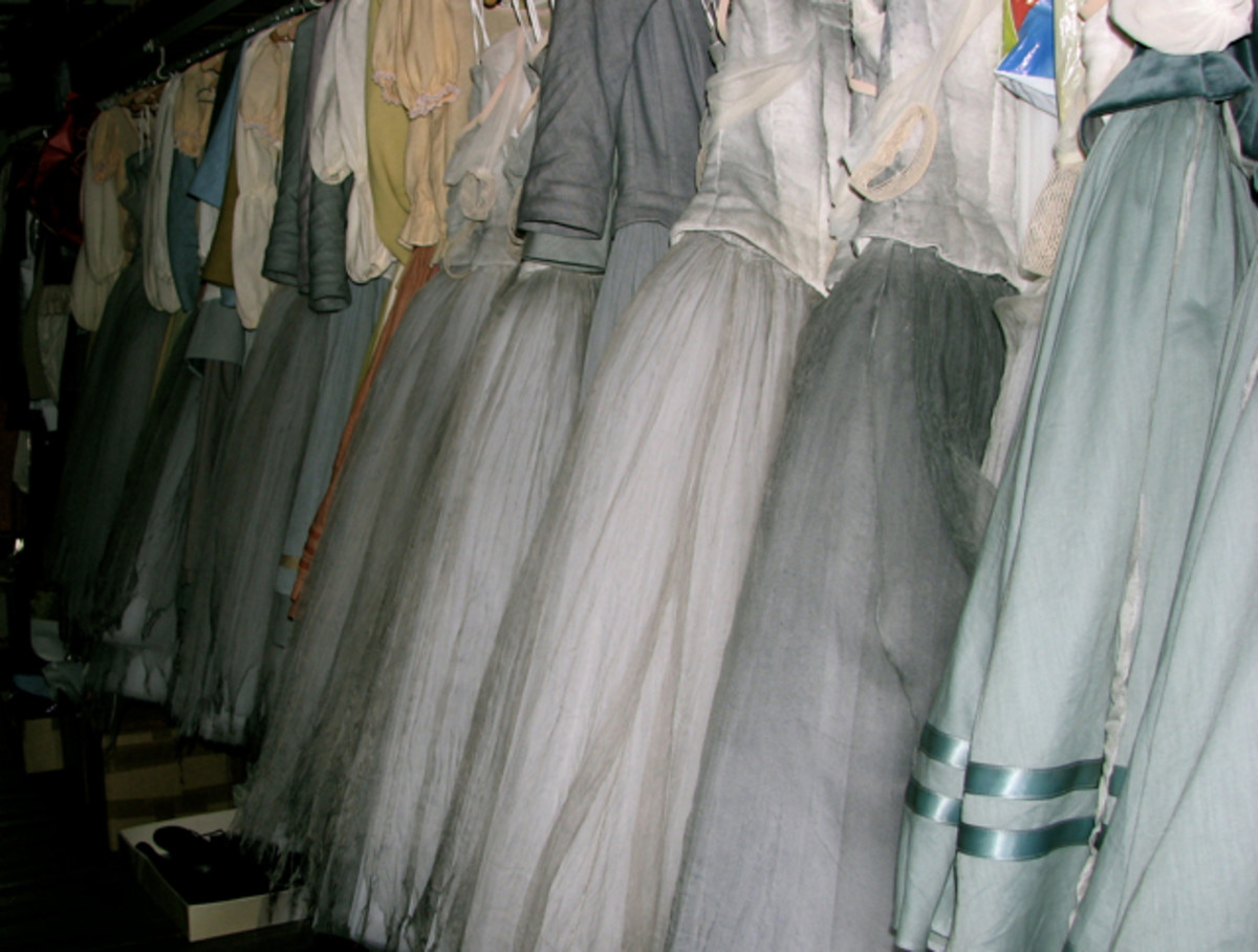 Ballet costumes at the Leipzig Opera.
