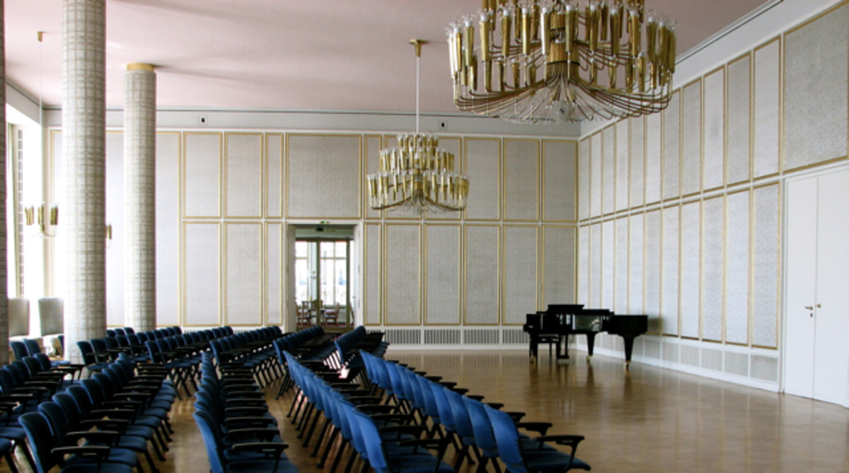 Small performance hall at the Leipzig Opera.