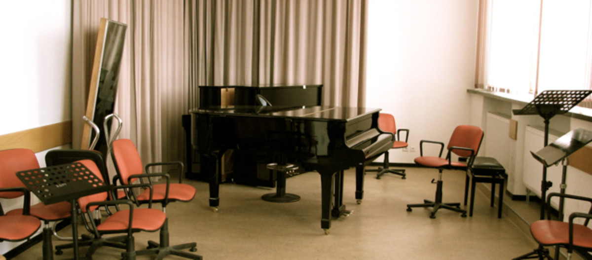 One of the smaller rehearsal rooms.