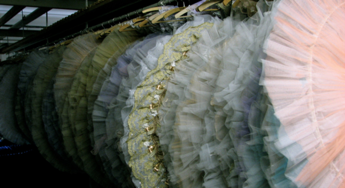 An amazing amount of tulle - traditional ballet skirts in the Leipzig Opera costume storage.