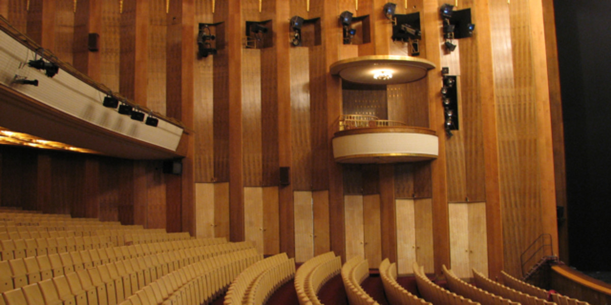 Box seating at the Leipzig Opera.