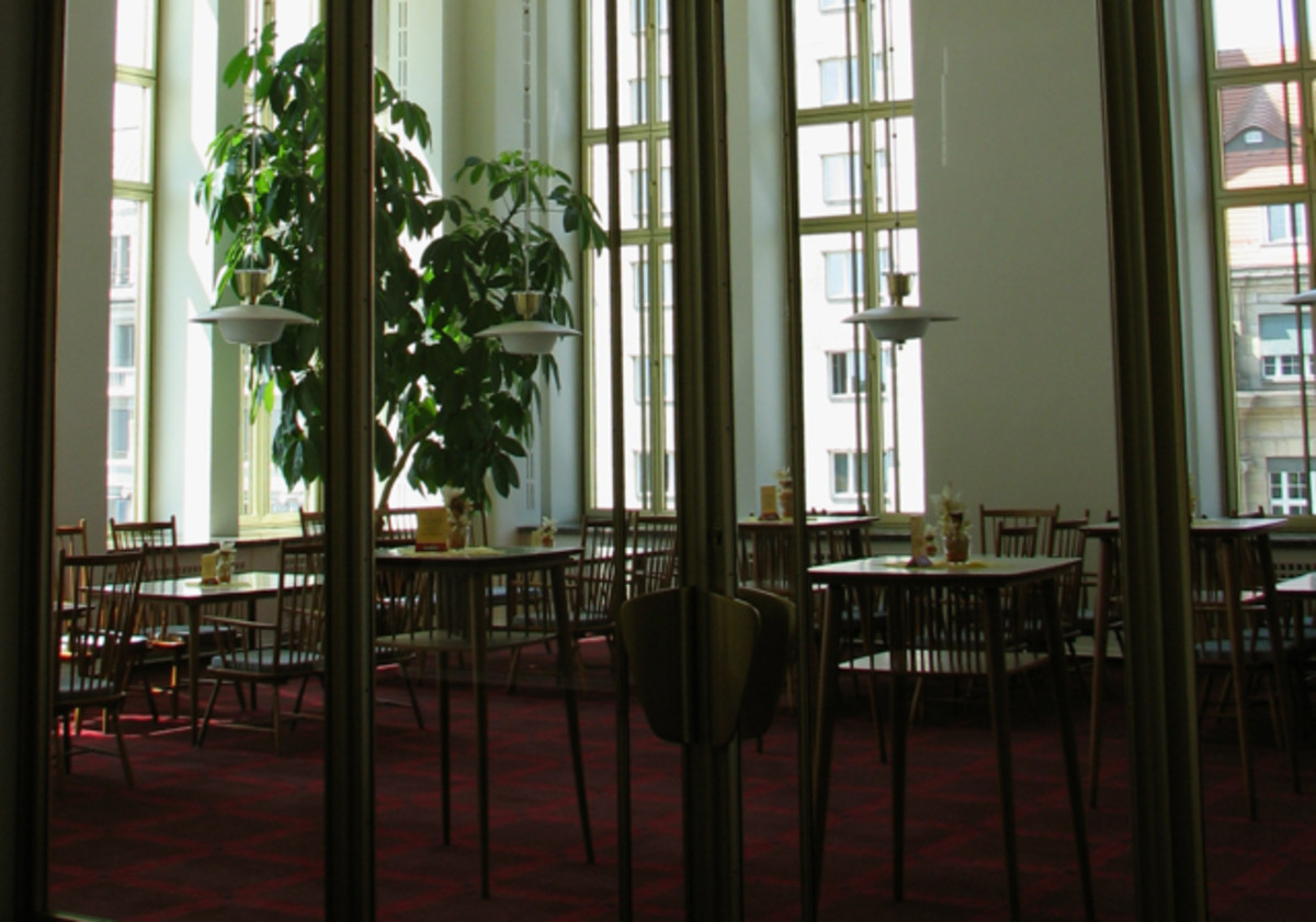 Weber foyer, near the small performance hall, Leipzig Opera.