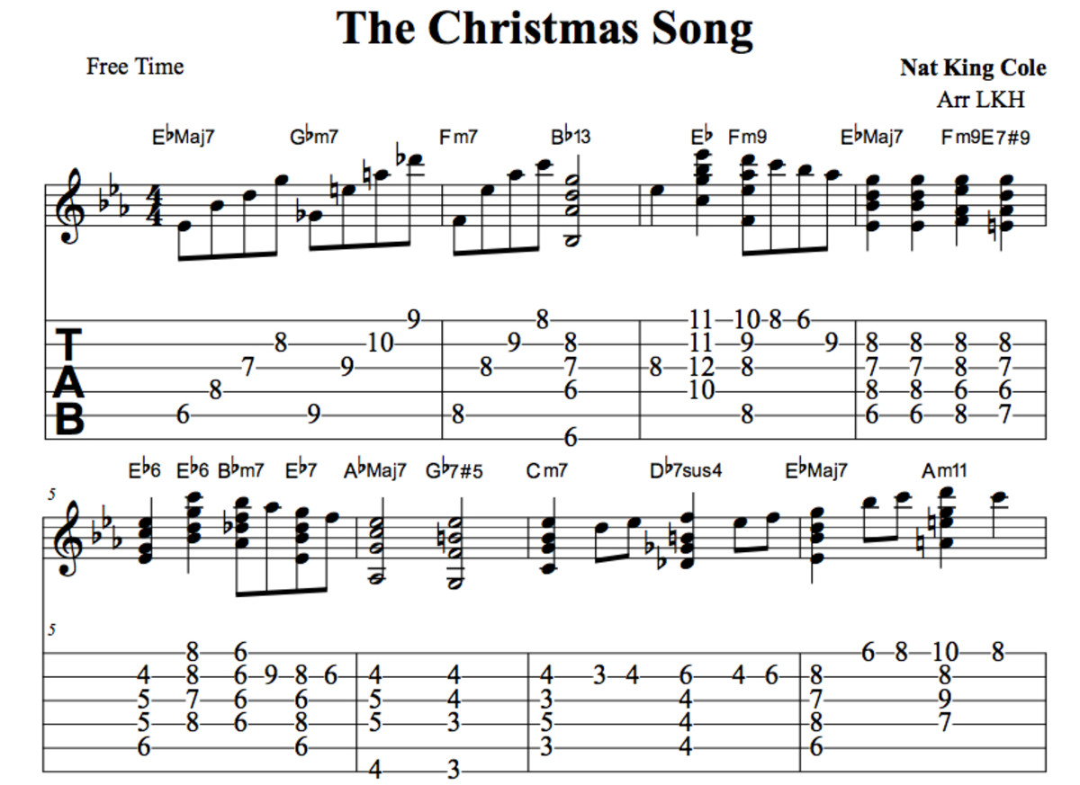 Jazz Guitar Lessons u2022 The Christmas Song Chord Melody u2022 Chords, Tab, Video Lessons u2022 Nat King Cole