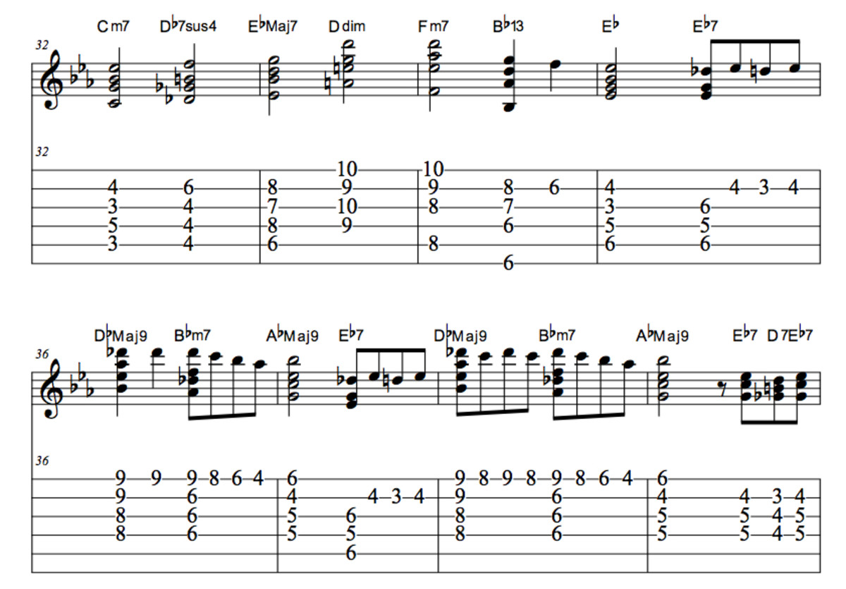 """Nat King Cole's """"Christmas Song"""": Guitar Chords, Melody, Tab, Video Lessons 