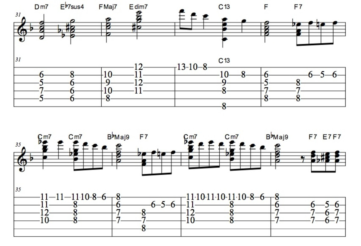 The Christmas Song Guitar Chords • Chord Melody, Tab, Video Lessons • Nat King Cole