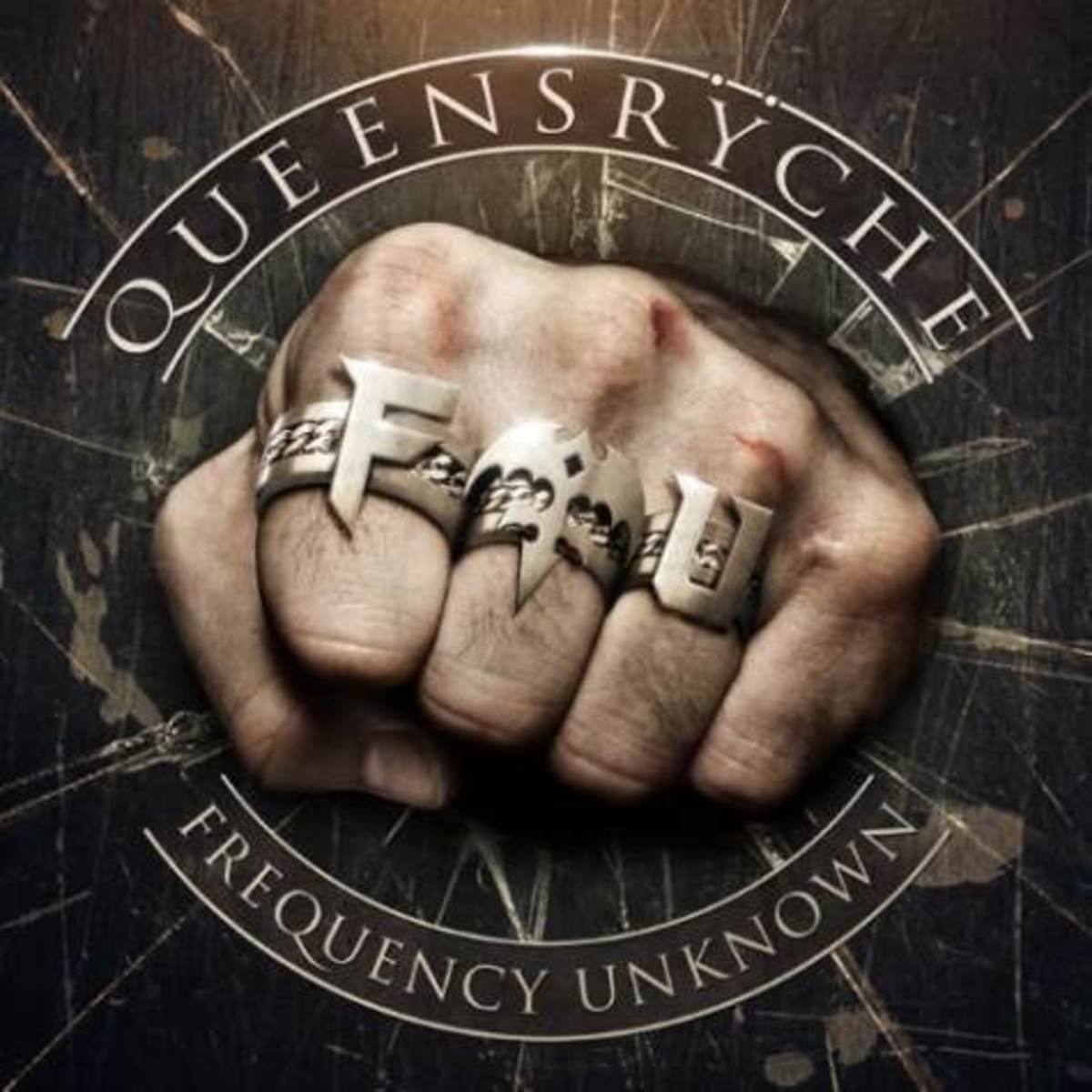 "Geoff Tate's Queensrÿche's FREQUENCY UNKNOWN album cover. Note the prominent ""F.U.""..."