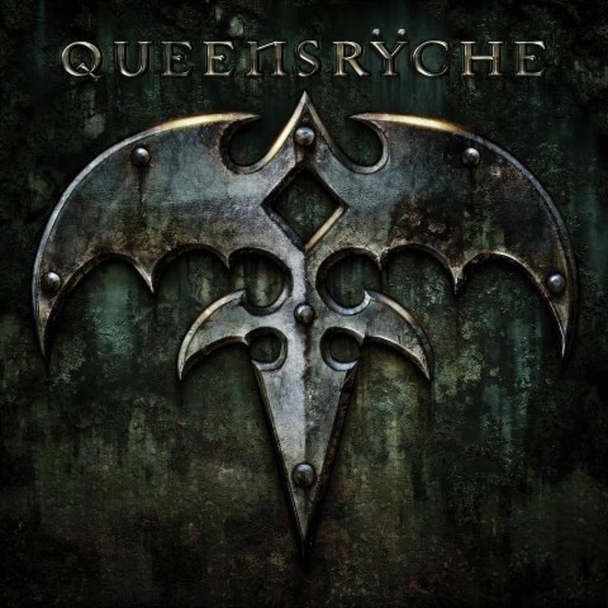 """Queensrÿche"" self titled album cover"