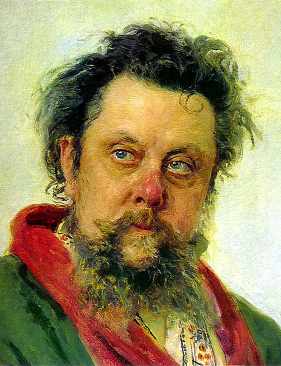 Painting of Mussorgksy
