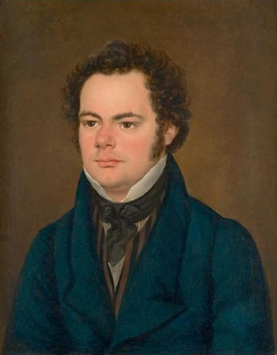Painting of Schubert