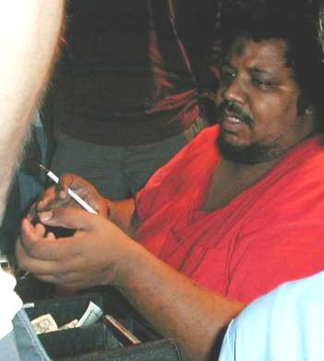 "Wesley Willis struggled with chronic schizophrenia. In interviews he has described his psychotic episodes as ""hell rides"". Highlighting how music helped him cope, he described rock & roll to be his ""joy ride music""."