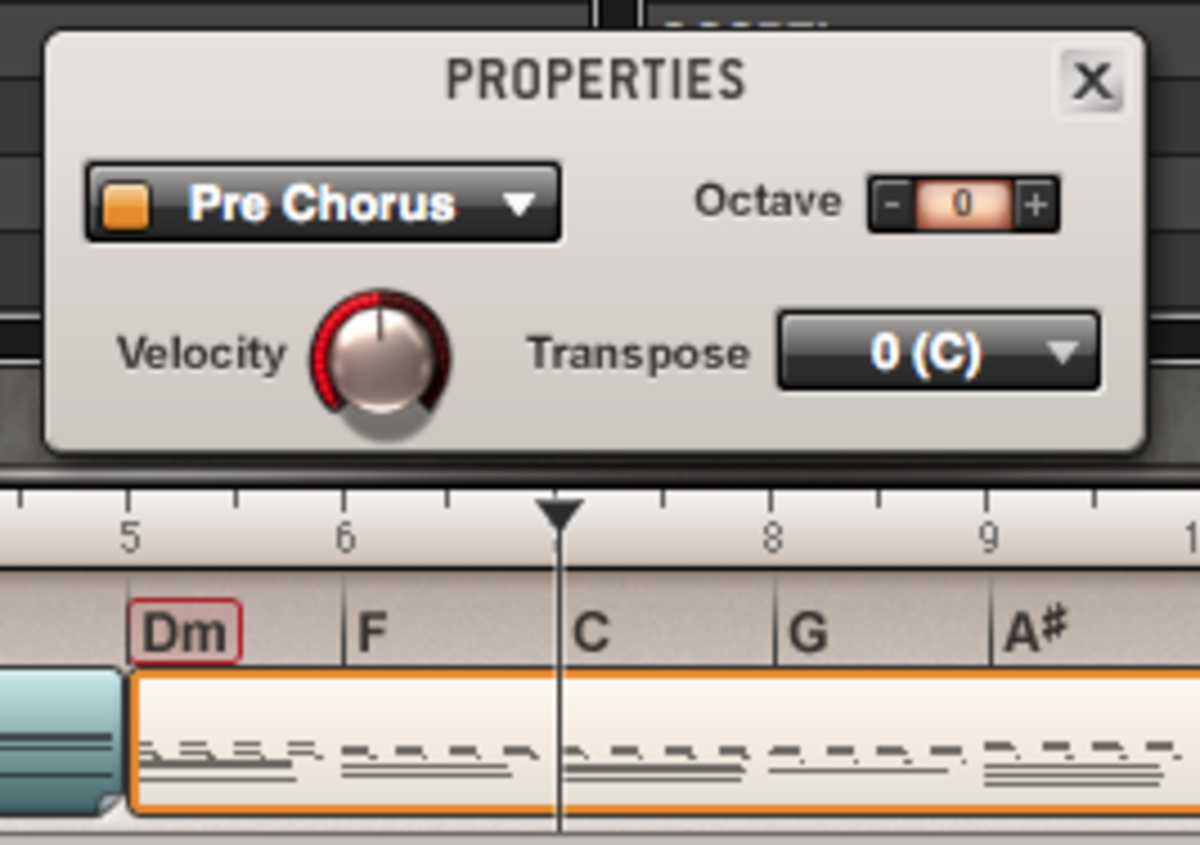 Patterns in the sequencer can be edited by double-clicking their respective MIDI blocks