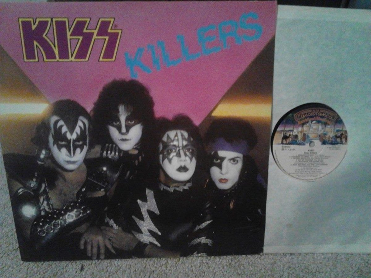"My vinyl LP copy of ""Killers"" with ""traditional"" KISS logo"