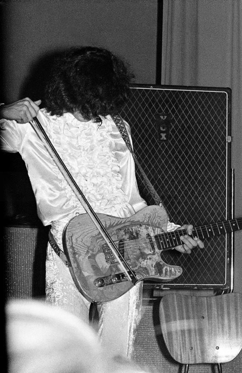 Jimmy Page with his 1959 or 1960 Fender Telecaster.