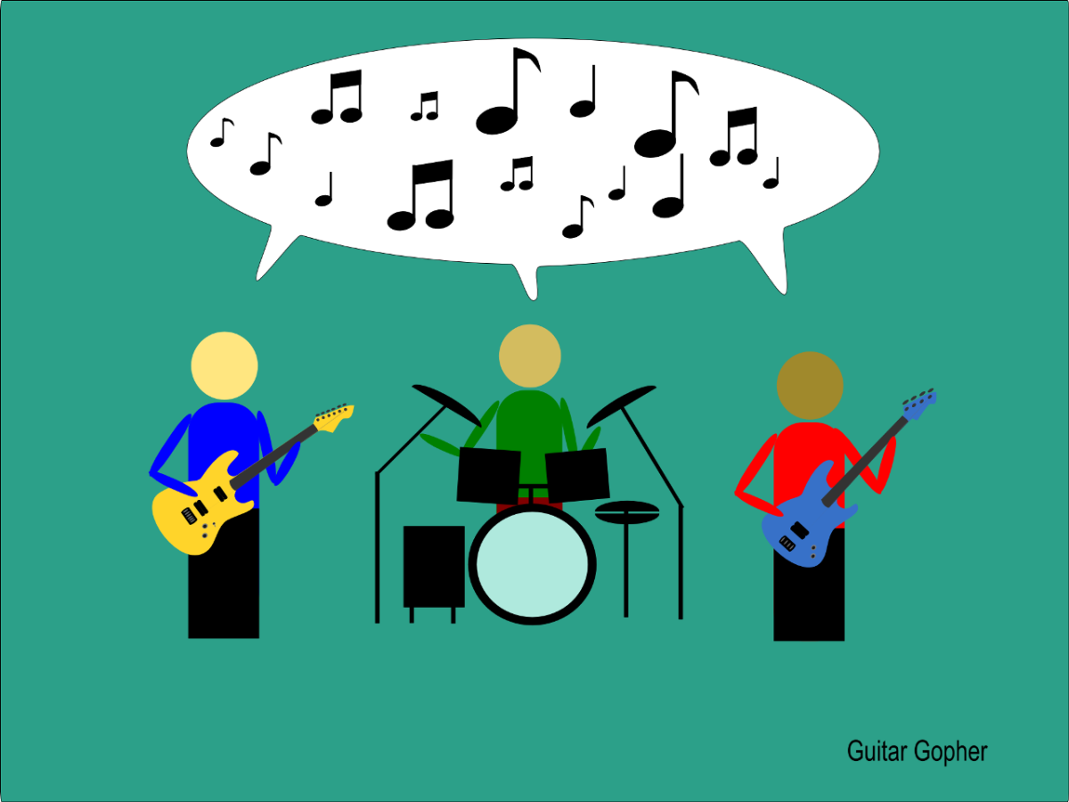 The language of music makes it easier for musicians to communicate.