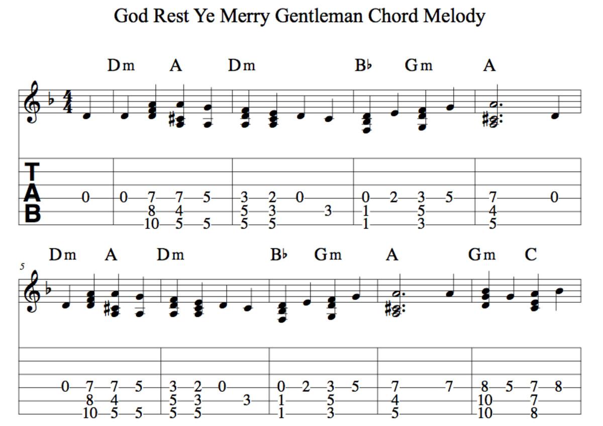 Easy Guitar Christmas Songs • God Rest Ye Merry Gentlemen • Chords, Strum Pattern, Guitar Duet ...