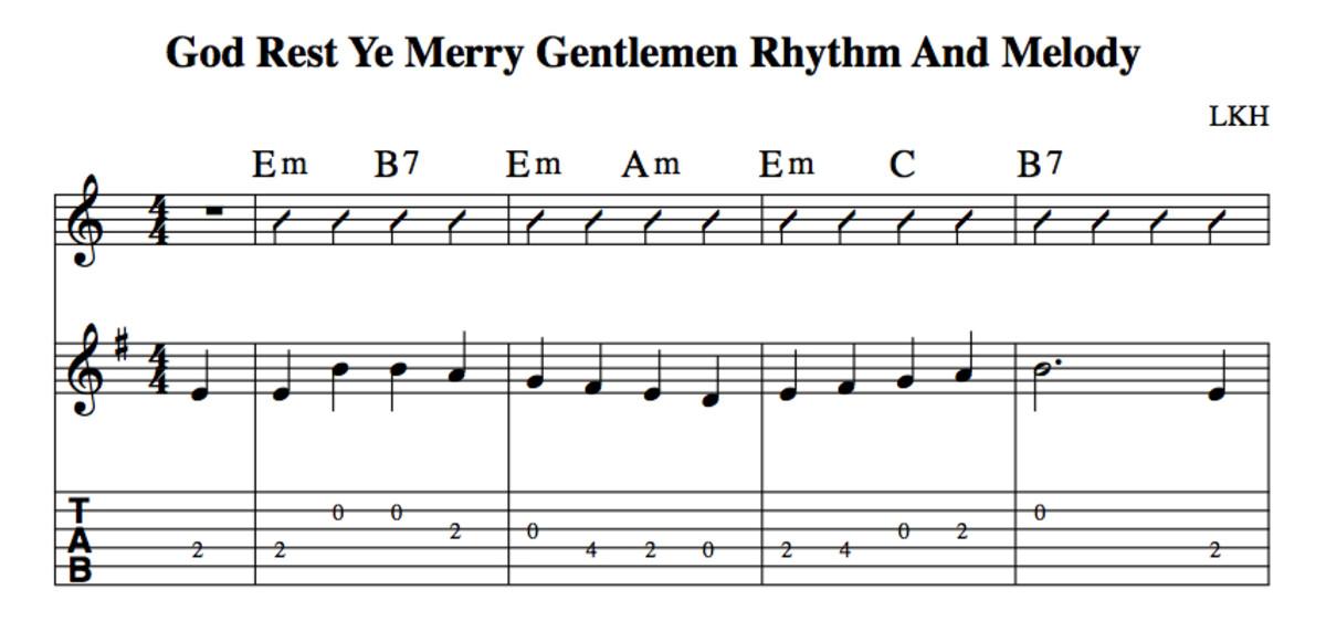 Easy Guitar Christmas Songs—God Rest Ye Merry Gentlemen—Chords ...