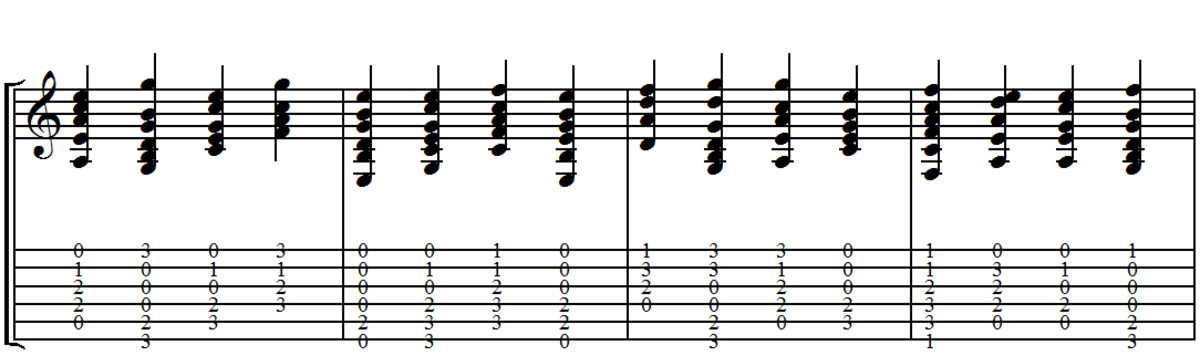 Group 2 Ex 1 - Including 5 & 6 string chords