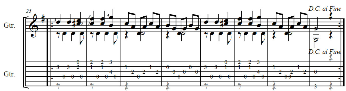 Carulli Waltz no.3 in E minor from Opus 241