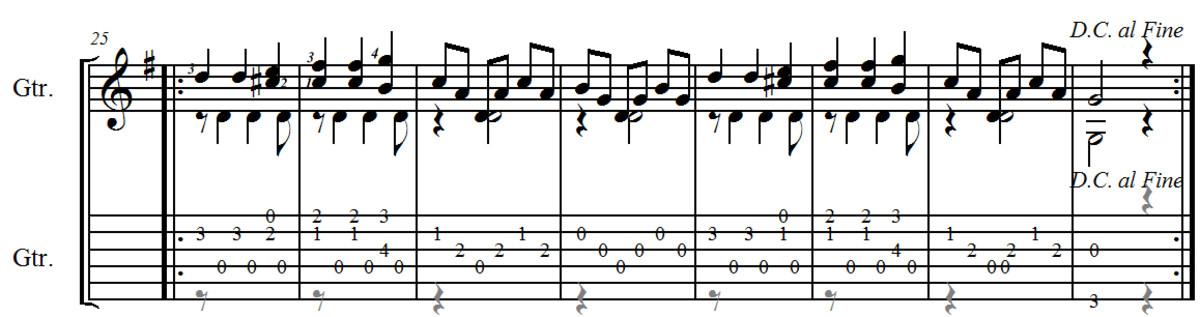 Carulli Waltz no.3 in E minor from Opus 241