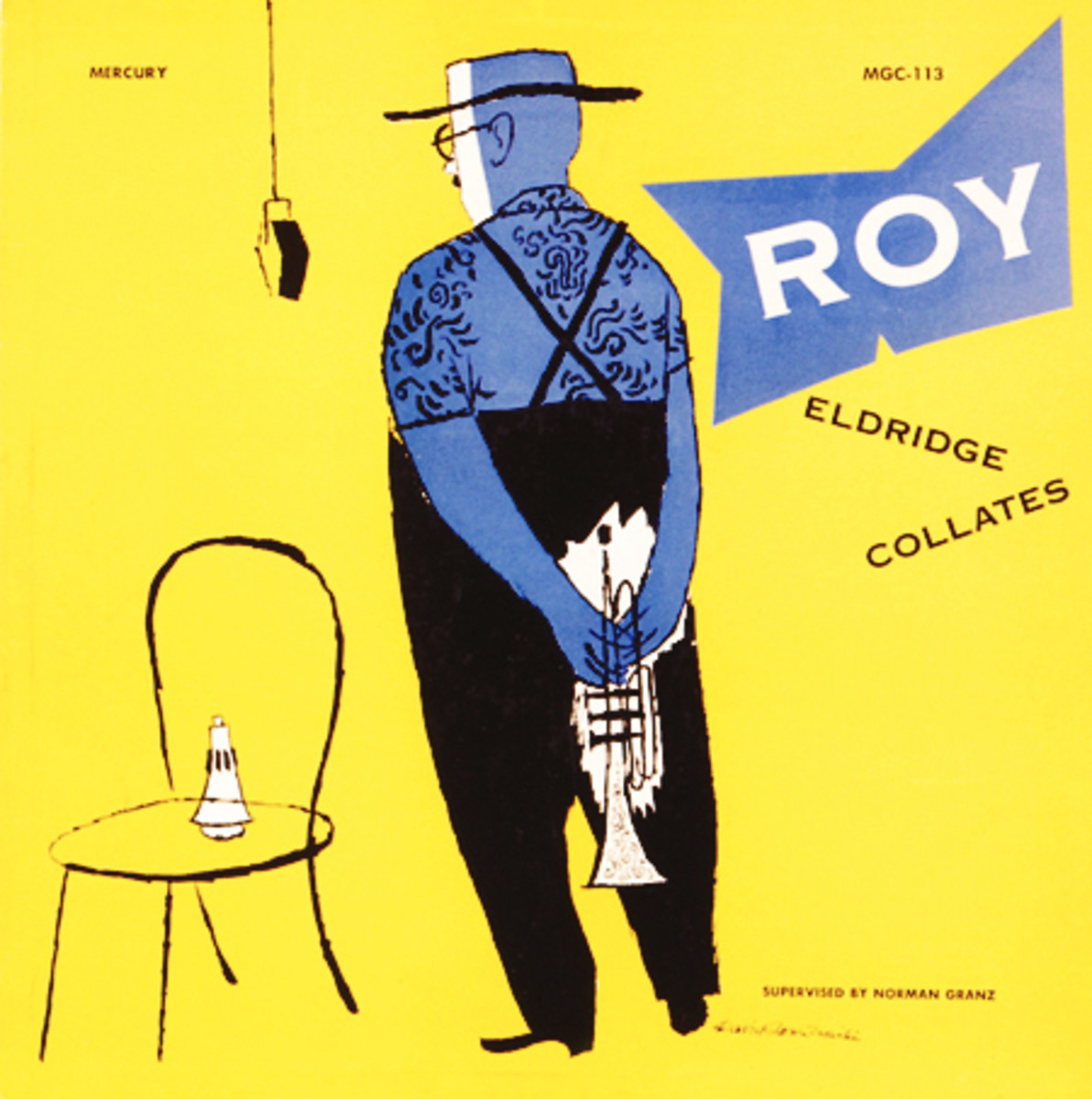 "Roy Eldridge ""Roy Eldridge Collates""  Mercury MG C  113  10"" LP Vinyl Record (1952) Album Cover Art by David Stone Martin"