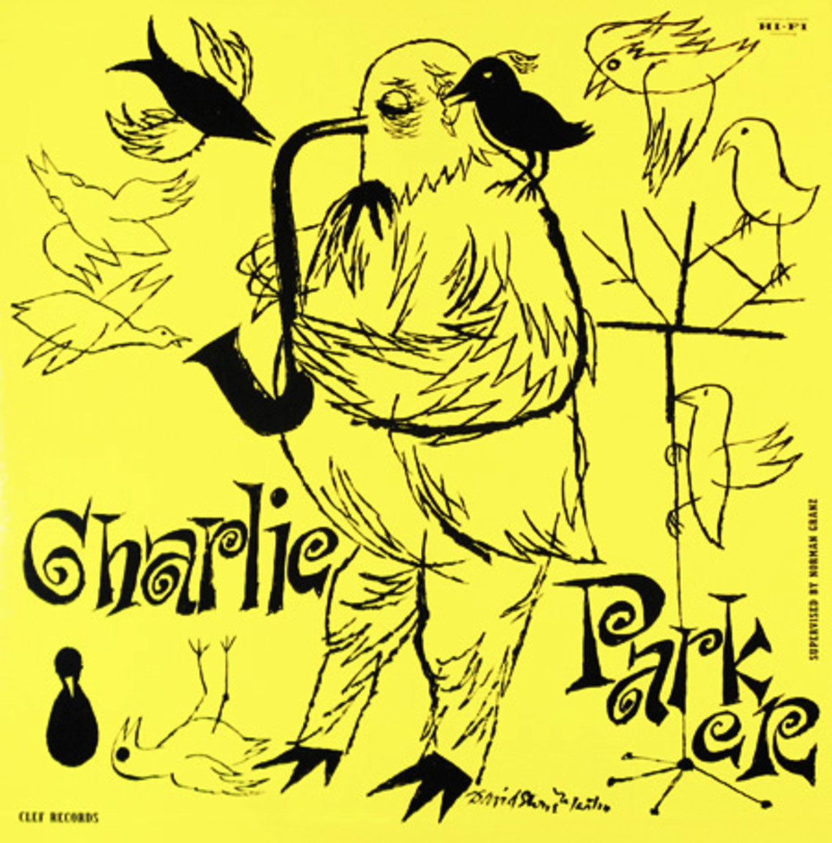 "Charlie Parker ""The Magnificent Charlie Parker"" Clef Records MG C 646 12"" LP Vinyl Record (1955) Album Cover Art by David Stone Martin"