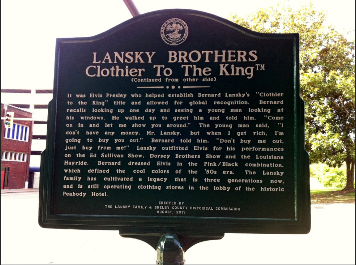 Lansky Brothers gained global recognition as Elvis Presley told the world about the shop.