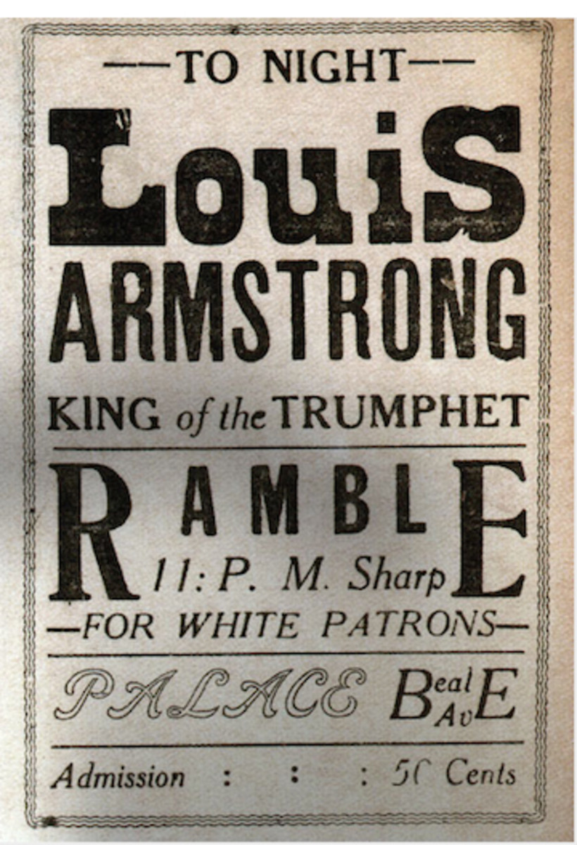 Louis Armstrong was one of the many great, black entertainers that performed at the Midnight Rambles.