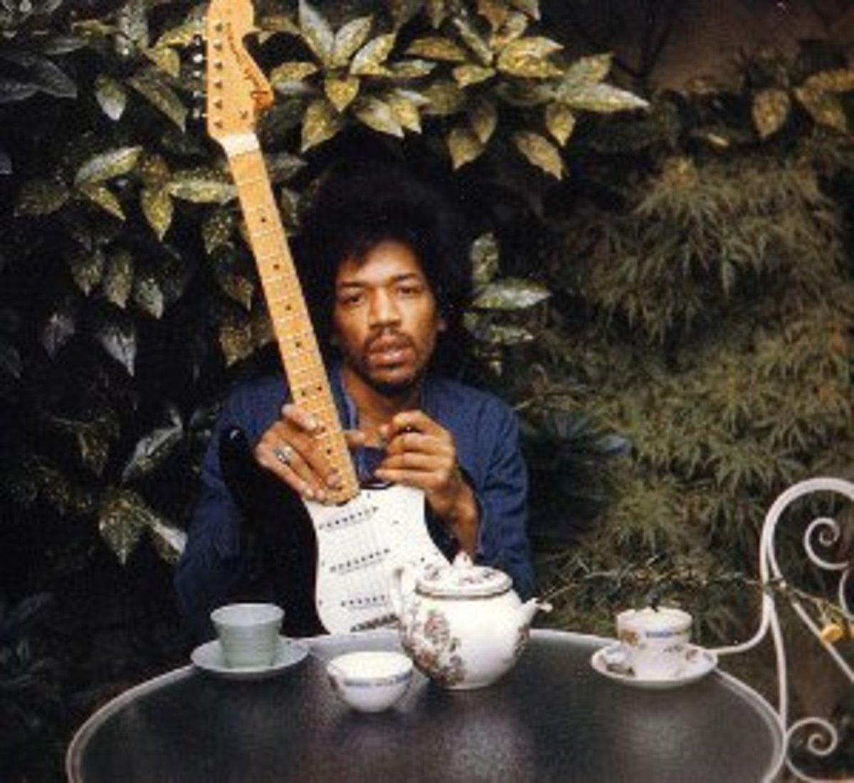 The last photo of Jimi Hendrix