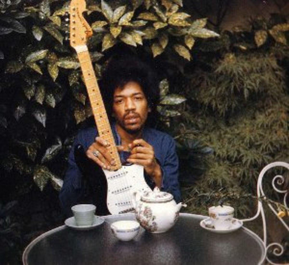 The last photo of Jimi Hendrix