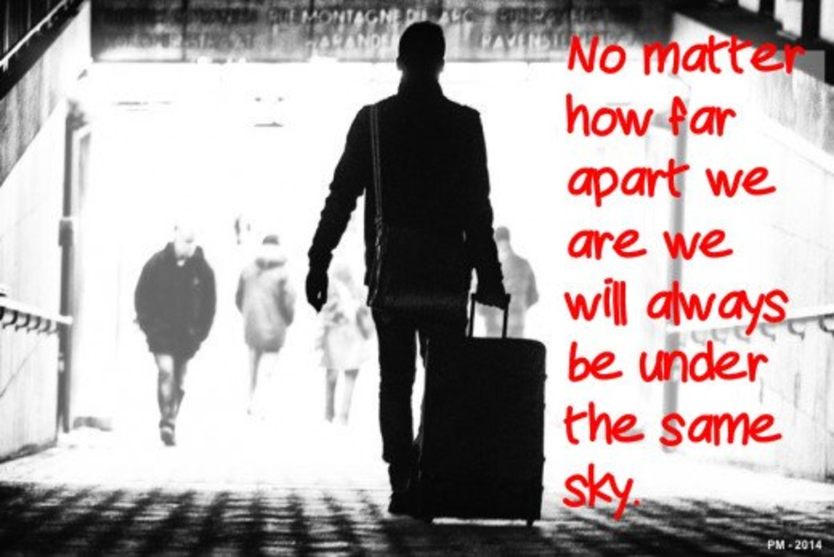 """""""No matter how far apart we are we will always be under the same sky."""""""