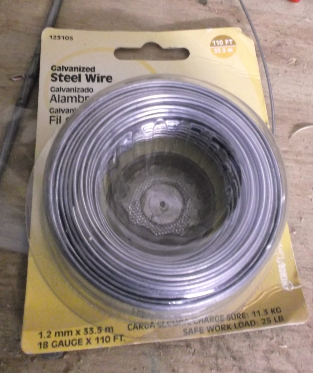 The steel wire you'll need for setup.