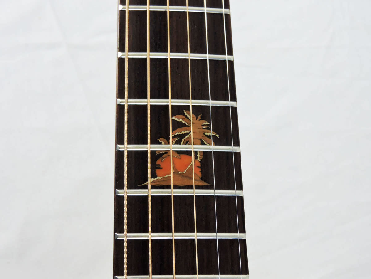 Beautiful and distinct inlay work by Takamine.