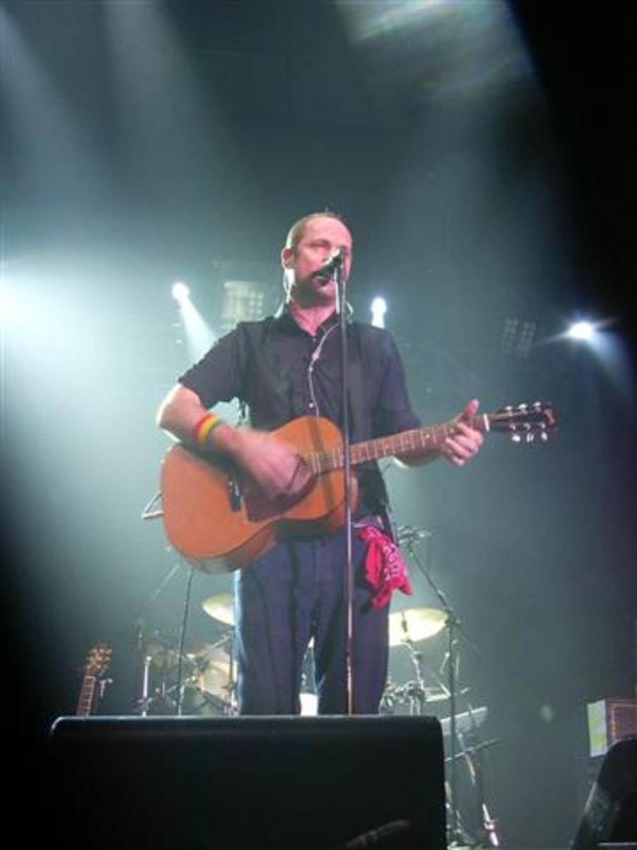 Frontman Gordon Downie performing live in 2003