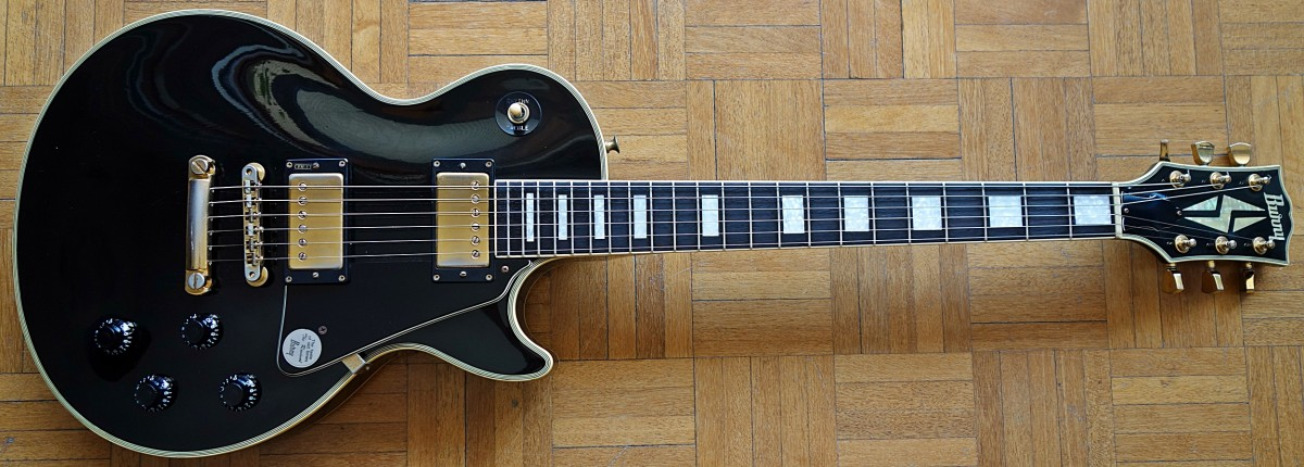 A Burny Les Paul Custom