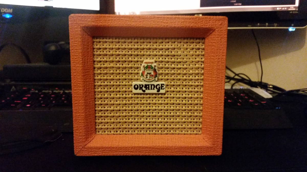 The Micro Crush bears Orange's distinctive design hallmarks.