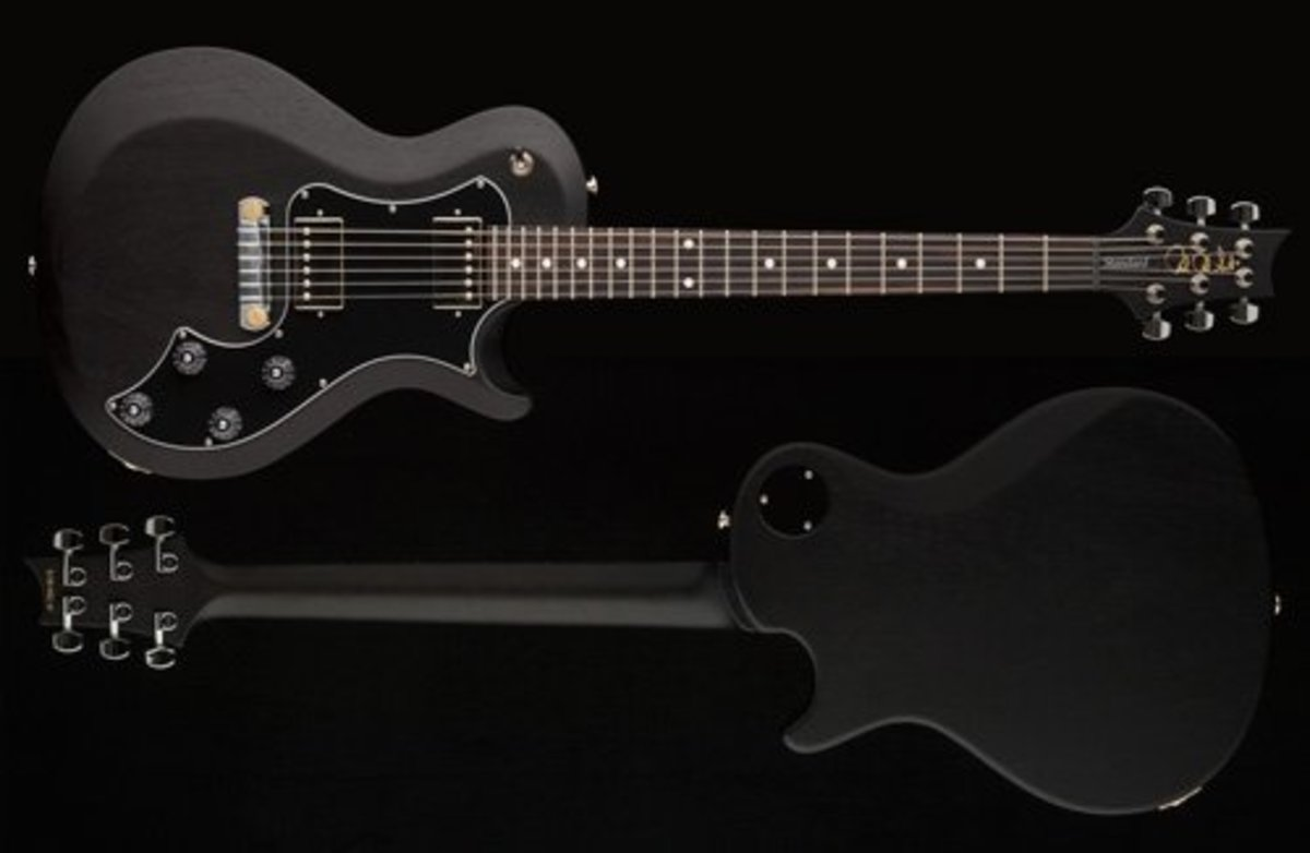 The PRS S2 Singlecut shown in black satin finish.
