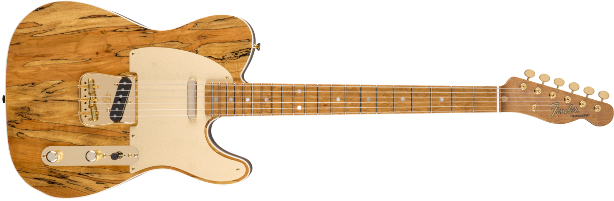Fender Custom Shop Spalted Maple Artisan Telecaster, Roasted Maple Fingerboard